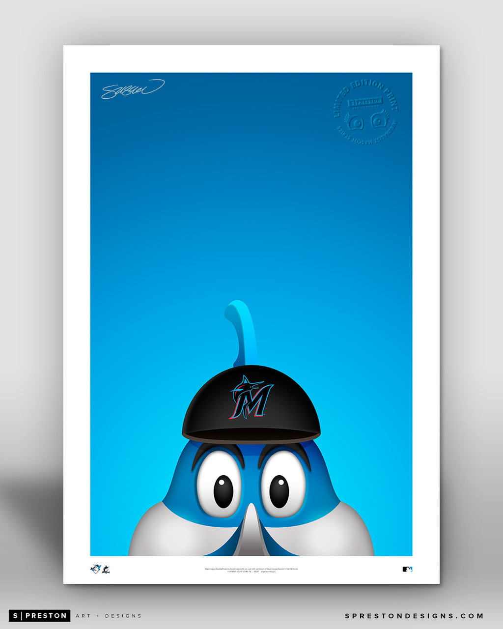 Minimalist Billy The Marlin - Miami Marlins - S. Preston