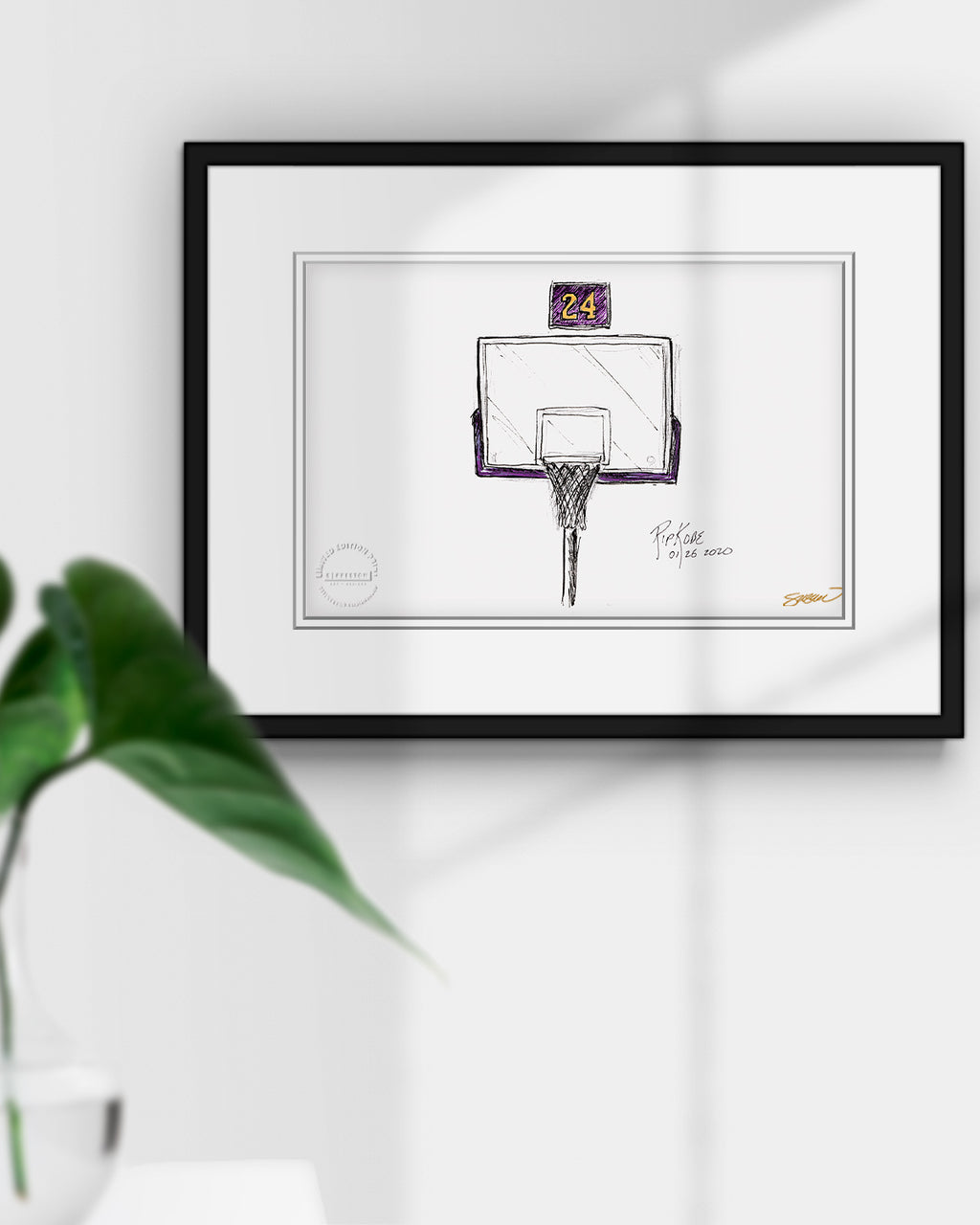 Remembering Mamba Tribute Sketch Print