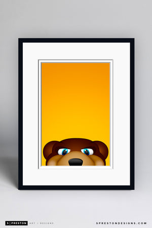 Minimalist Blades Art Print - Boston Bruins - S. Preston Art + Designs