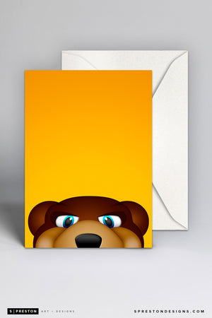 Minimalist Blades the Bruin Note Card