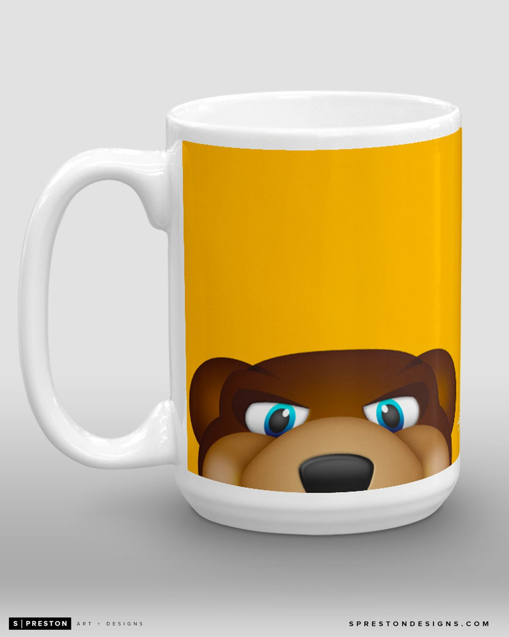 Minimalist Blades Coffee Mug - NHL Licensed - Boston Bruins Mascot