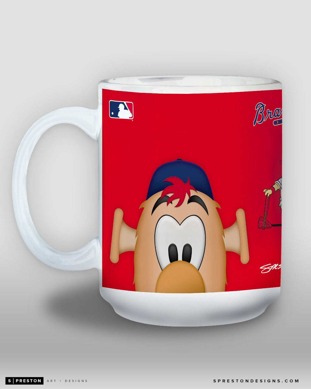 Minimalist Blooper Coffee Mug - MLB Licensed - Atlanta Braves Mascot