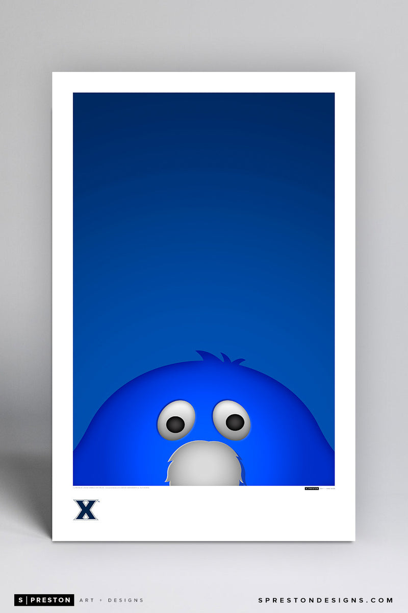 Minimalist Blue Blob Poster Print - Xavier University - S. Preston Art + Designs