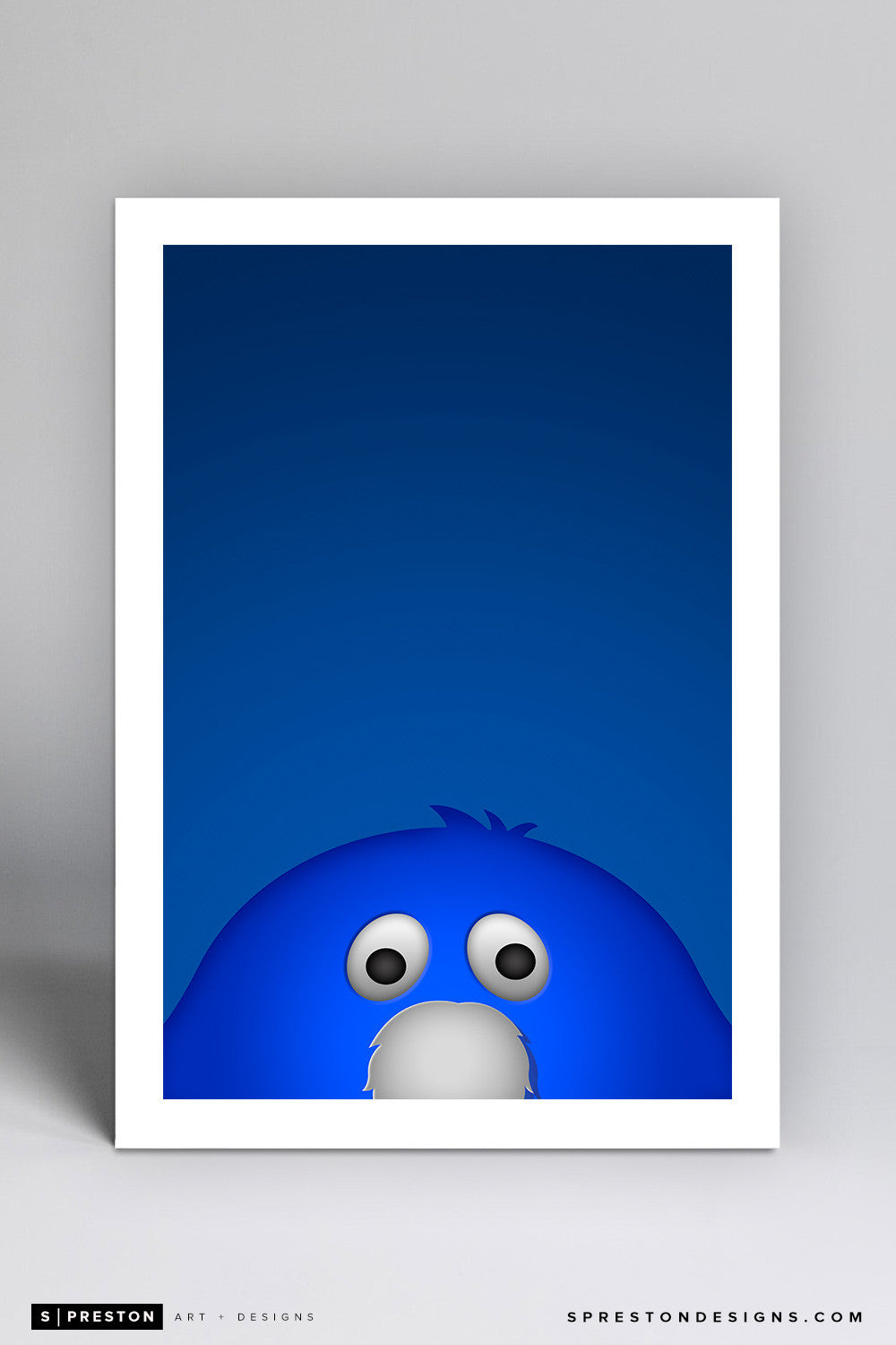 Minimalist Blue Blob Art Print - Xavier University - S. Preston Art + Designs