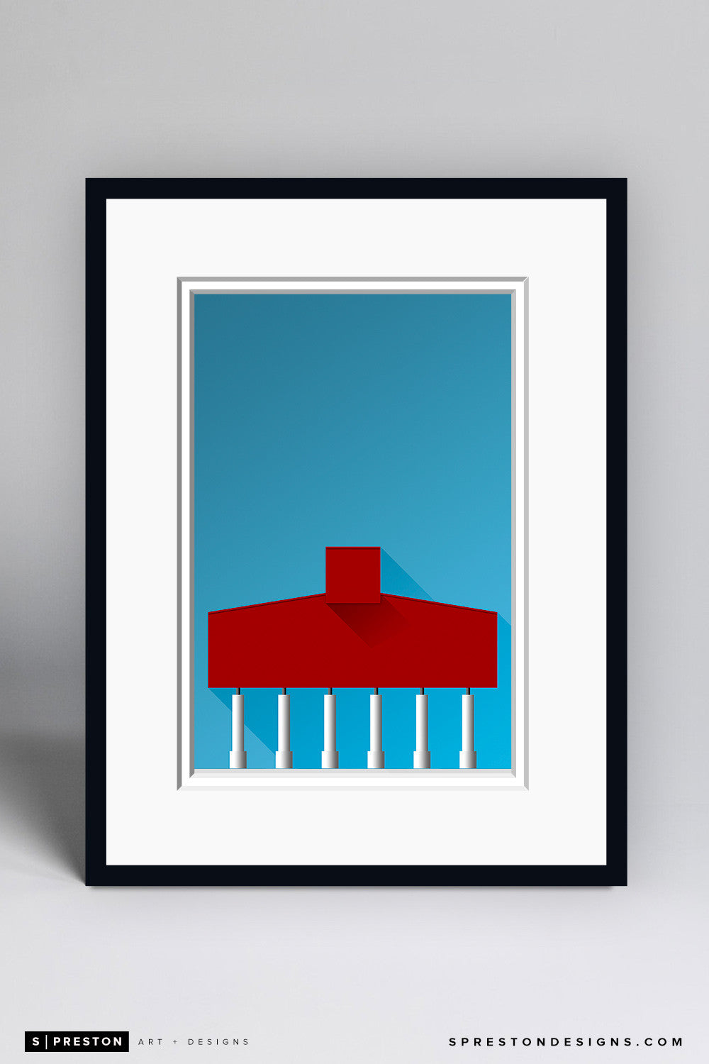 Minimalist Bryant-Denny Stadium Art Print - University of Alabama - S. Preston Art + Designs