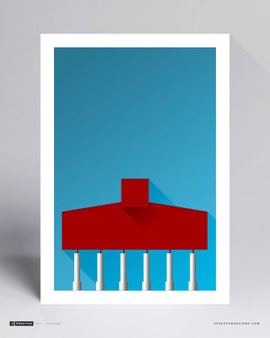 Minimalist Bryant-Denny Stadium - University of Alabama - S. Preston