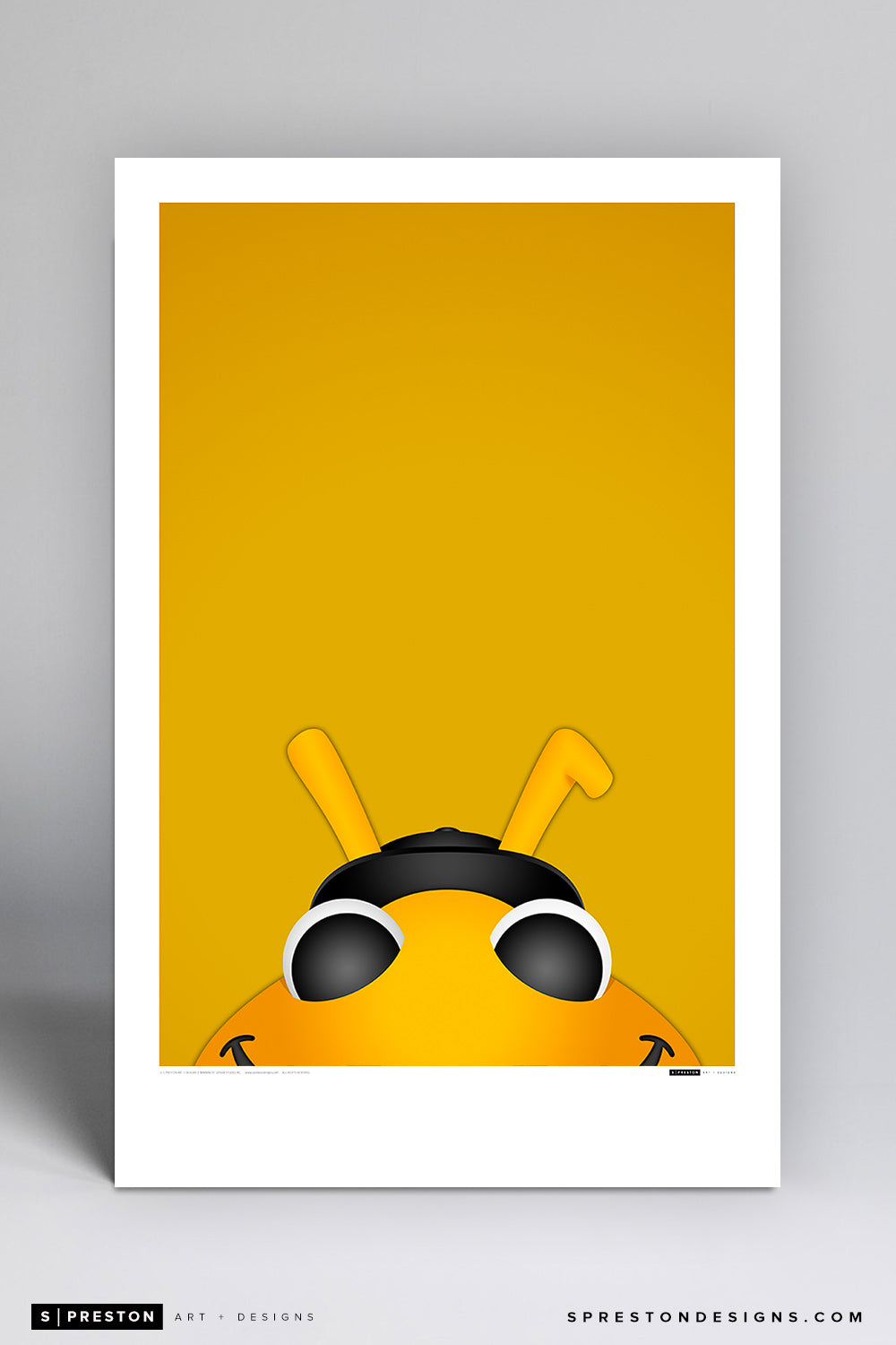 Minimalist Bumble - Salt Lake Bees Art Poster Art Poster - Salt Lake Bees - S. Preston Art + Designs