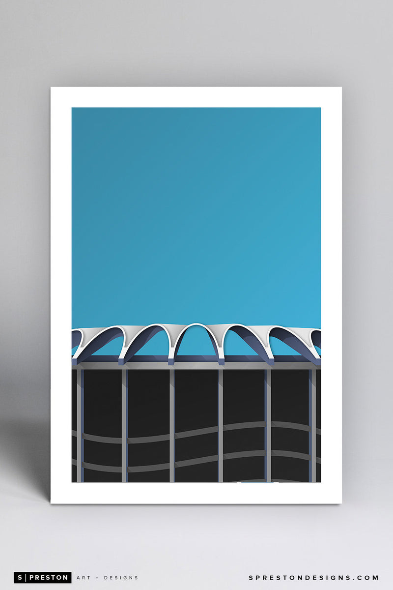 Minimalist Busch II Stadium Art Print - St. Louis Cardinals - S. Preston Art + Designs