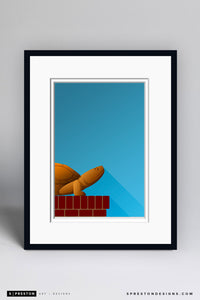 Minimalist Byrd Stadium Art Print - University of Maryland - S. Preston Art + Designs