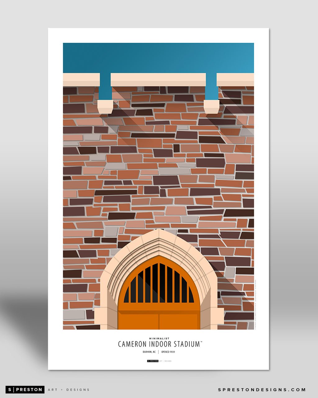 Minimalist Cameron Indoor Stadium Poster Print Duke University - S Preston