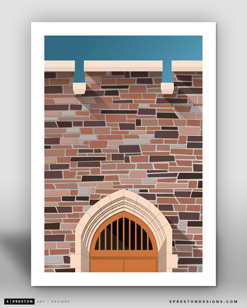 Minimalist Cameron Indoor Stadium - Duke University - S. Preston