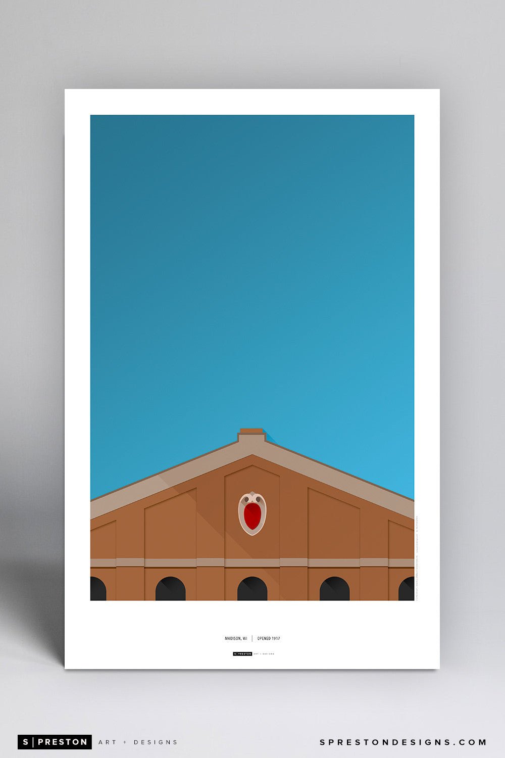 Minimalist Camp Randall Stadium Poster Print University of Wisconsin - S Preston