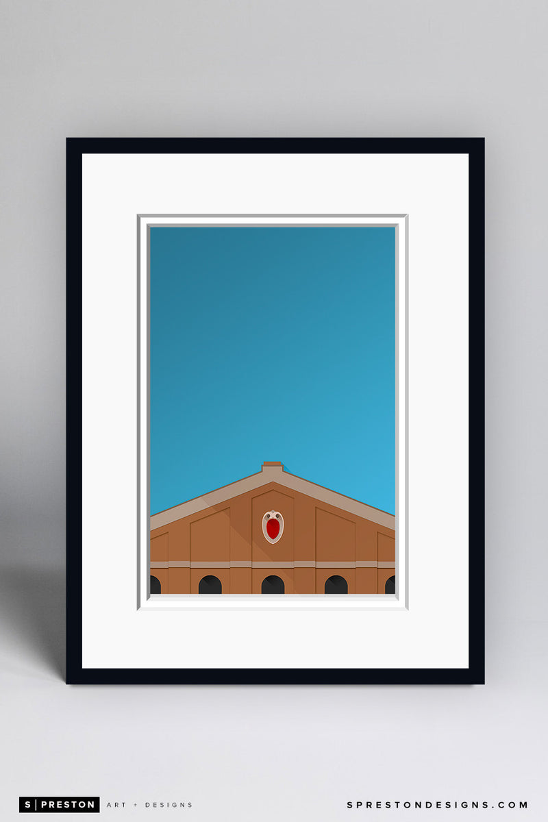 Minimalist Camp Randall Stadium Art Print - University of Wisconsin - S. Preston Art + Designs