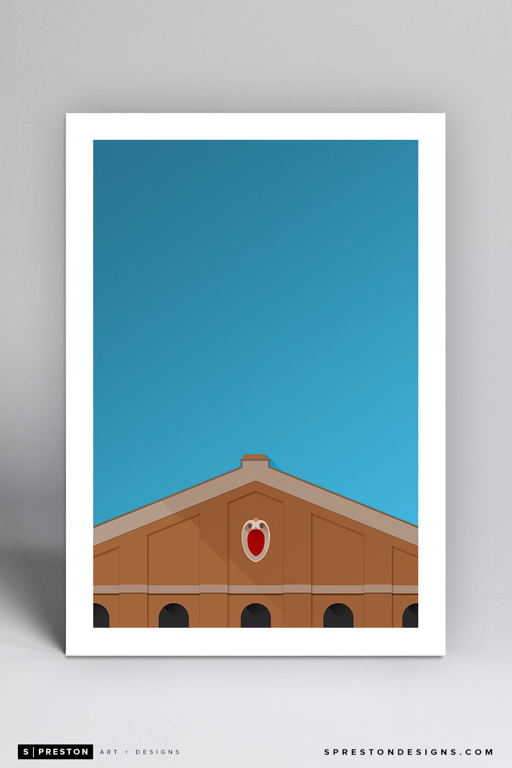 Minimalist Camp Randall Stadium - University of Wisconsin - S. Preston