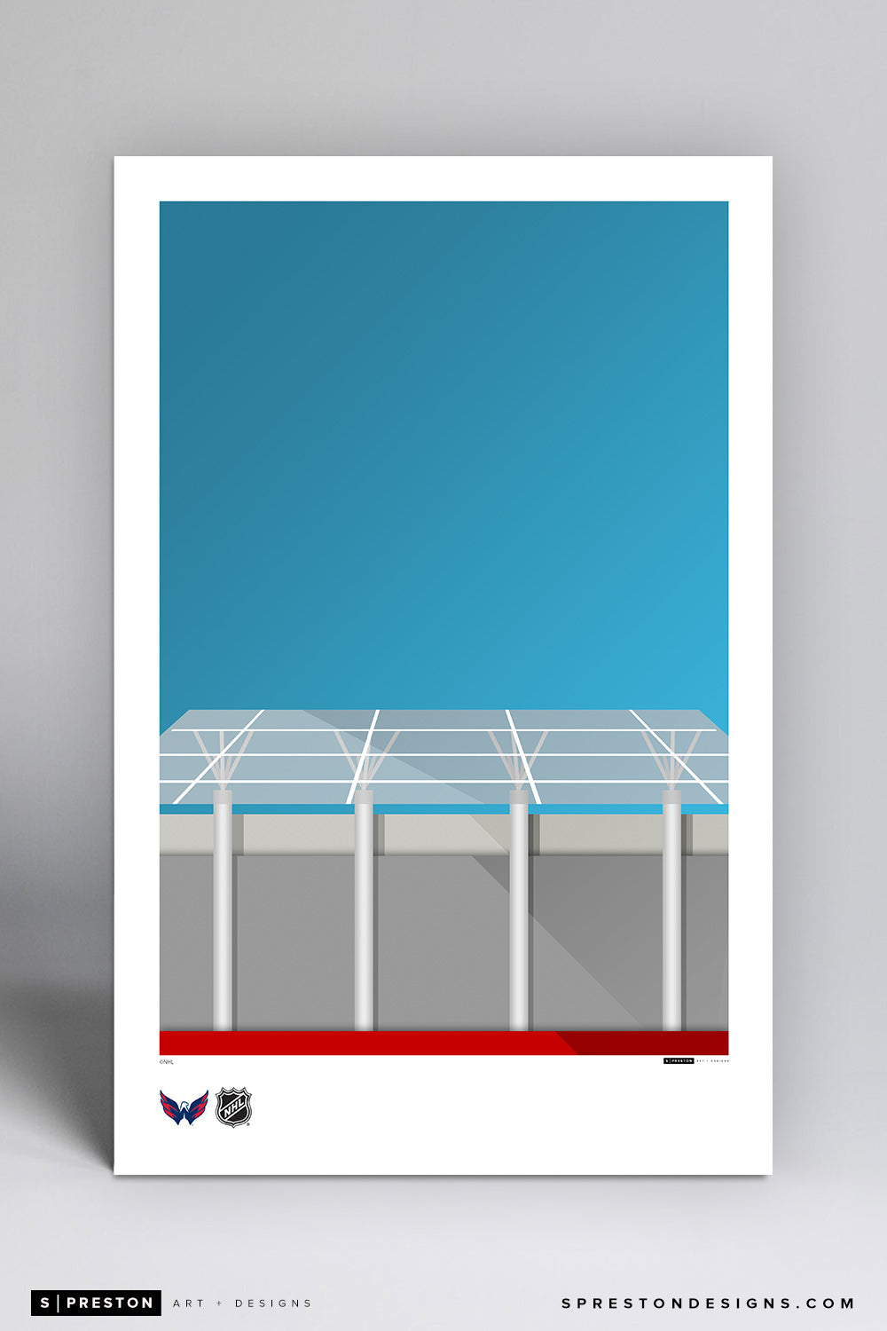 Minimalist Capital One Arena Art Poster