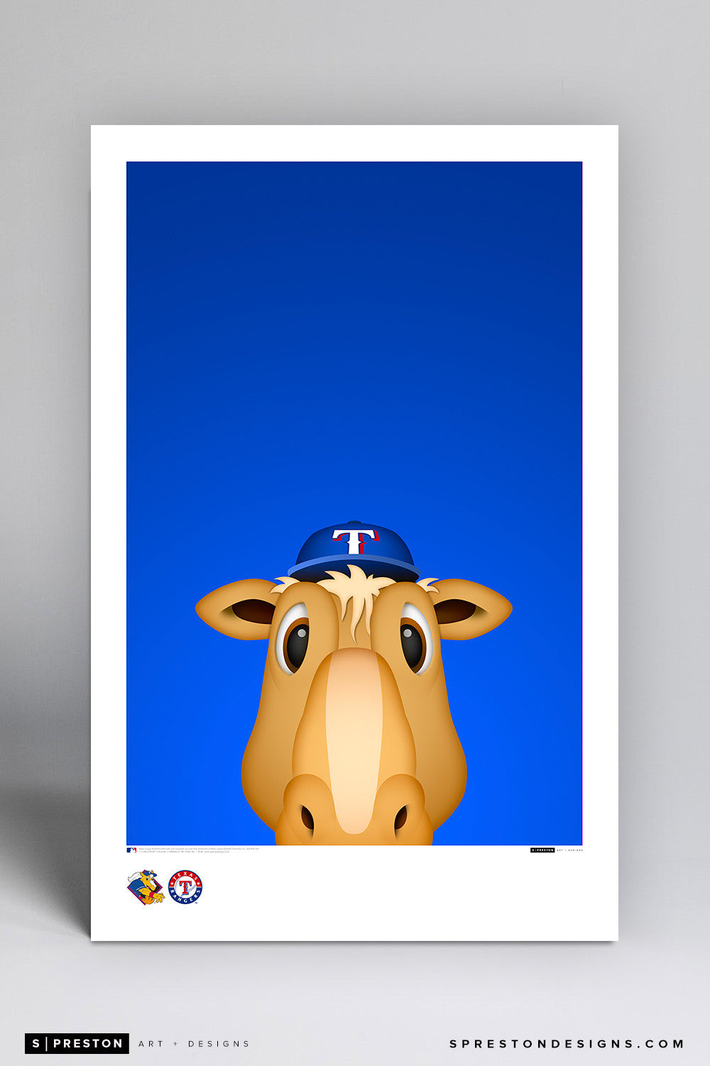 Minimalist Ranger Captain Art Poster Art Poster - Texas Rangers - S. Preston Art + Designs
