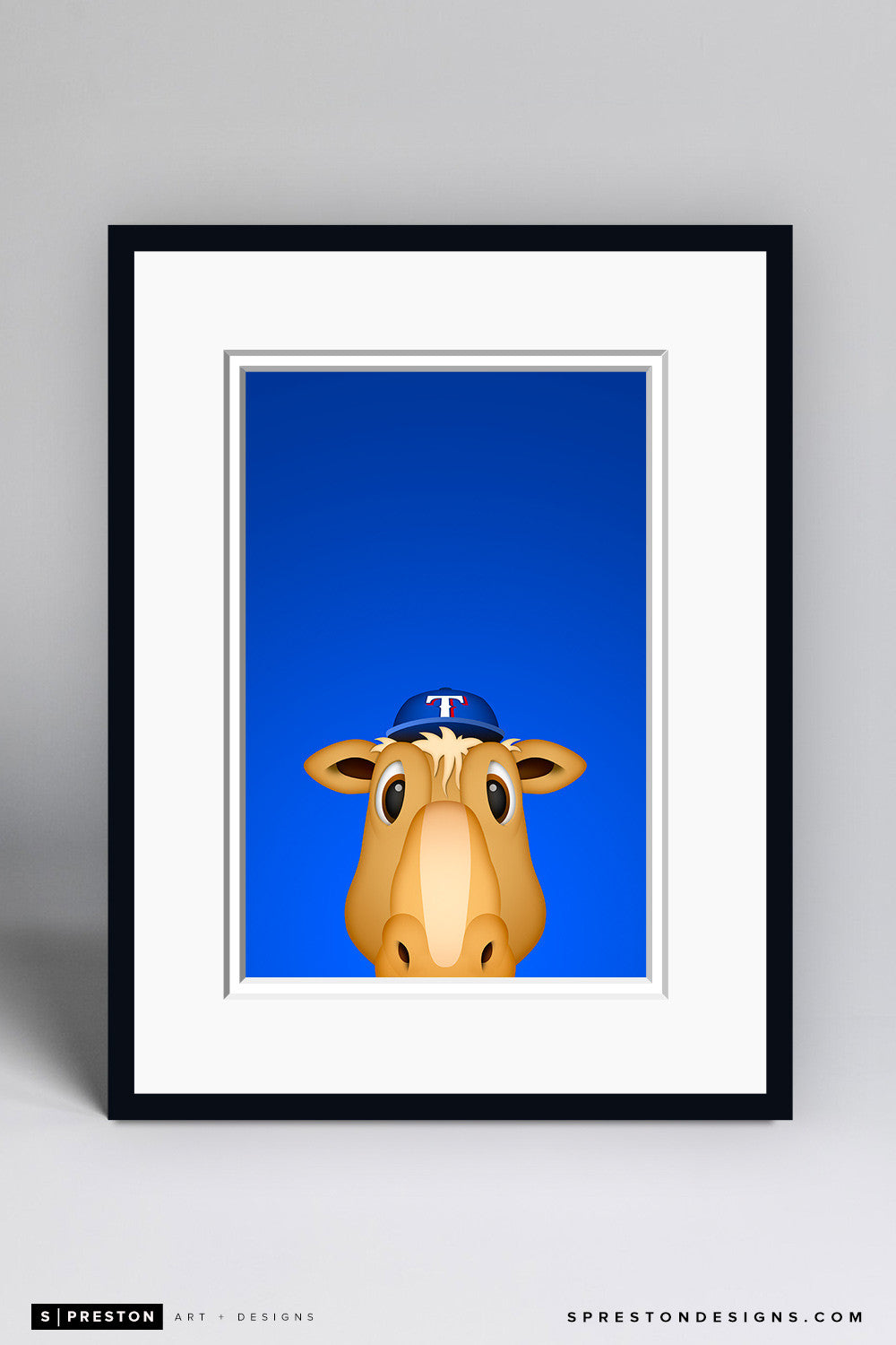 Minimalist Ranger Captain Art Print - Texas Rangers - S. Preston Art + Designs