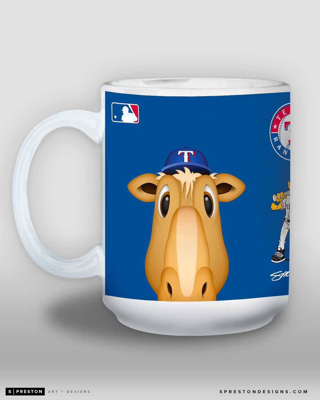 Minimalist Ranger Captain Coffee Mug - MLB Licensed - Texas Rangers Mascot