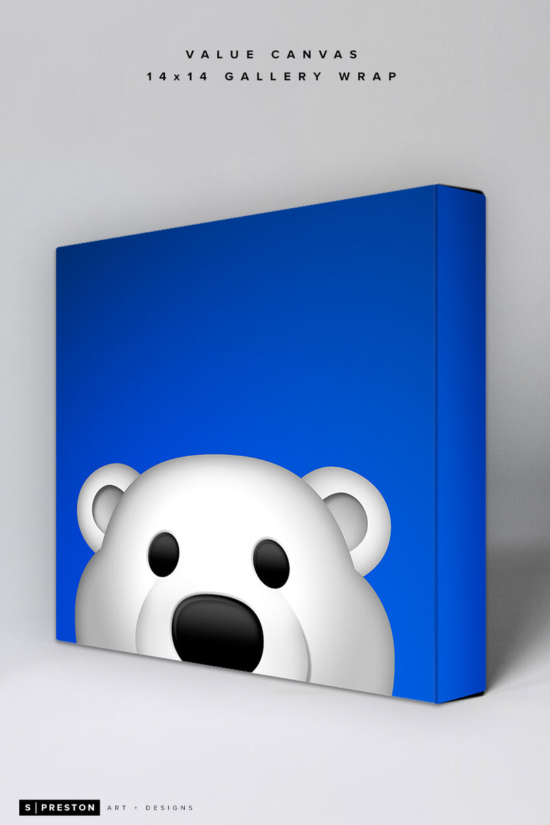 Minimalist Carlton the Bear Value Canvas Value Canvas - Toronto Maple Leafs - S. Preston Art + Designs