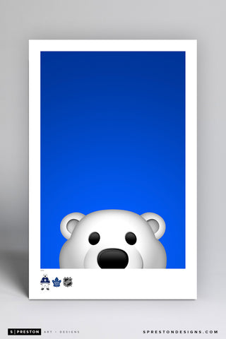 Minimalist Carlton The Bear Art Poster Art Poster - Toronto Maple Leafs - S. Preston Art + Designs