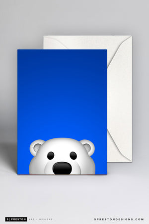 Minimalist Carlton The Bear Note Card Set