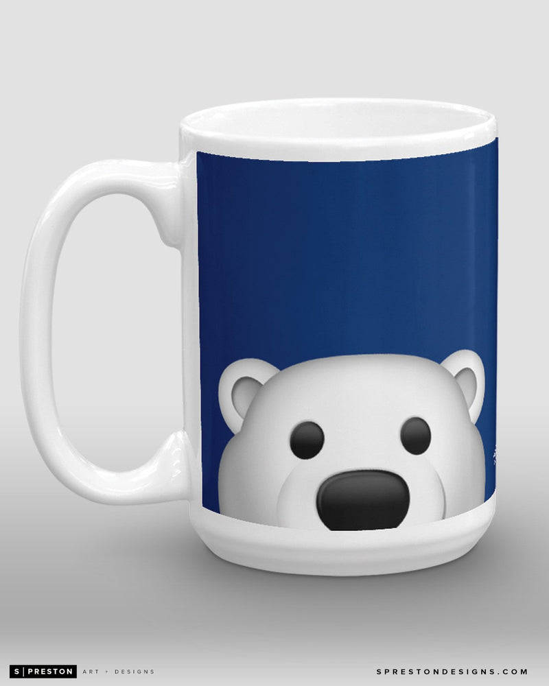 Minimalist Carlton The Bear Coffee Mug - NHL Licensed - Toronto Maple Leafs Mascot