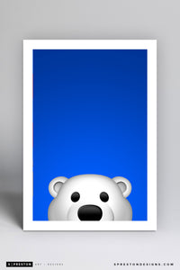 Minimalist Carlton The Bear Art Print - Toronto Maple Leafs - S. Preston Art + Designs
