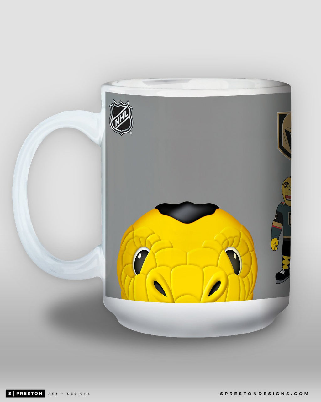 Minimalist Chance the Gila Monster Coffee Mug - NHL Licensed - Vegas Golden Knights Mascot