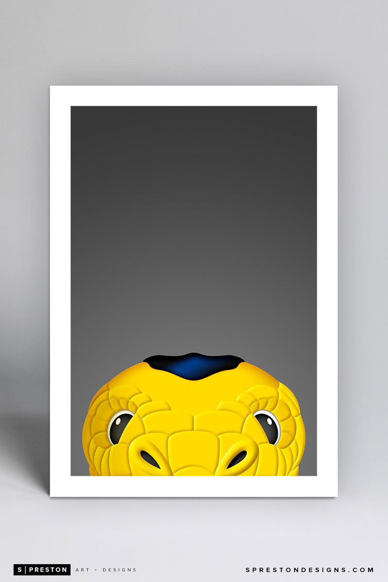 Minimalist Chance Art Print - Vegas Golden Knights - S. Preston Art + Designs