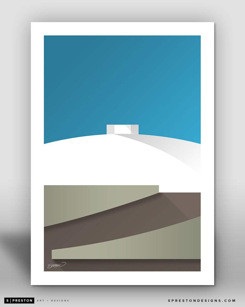 Minimalist Charles Koch Arena - Wichita State University - S. Preston