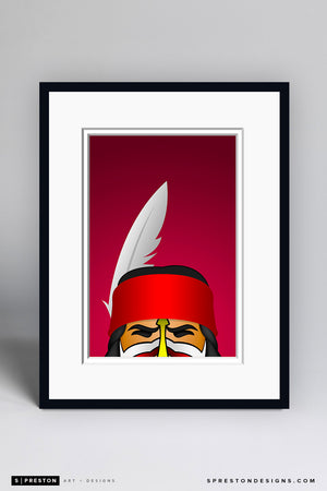 Minimalist Chief Osceola - FSU Art Print - Florida State University - S. Preston Art + Designs