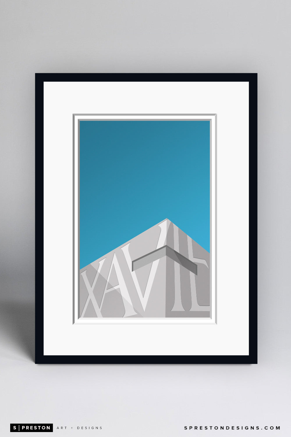 Minimalist Cintas Center Art Print - Xavier University - S. Preston Art + Designs