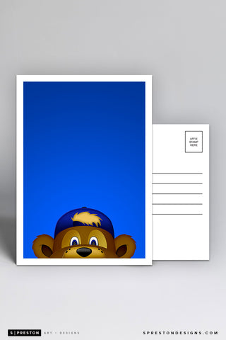 Minimalist Clark The Cub Postcard