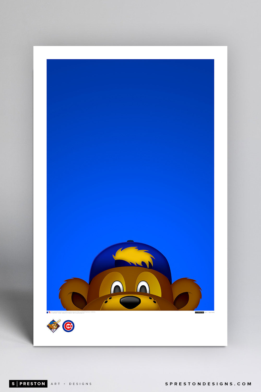 Minimalist Clark The Cub Art Poster Art Poster - Chicago Cubs - S. Preston Art + Designs