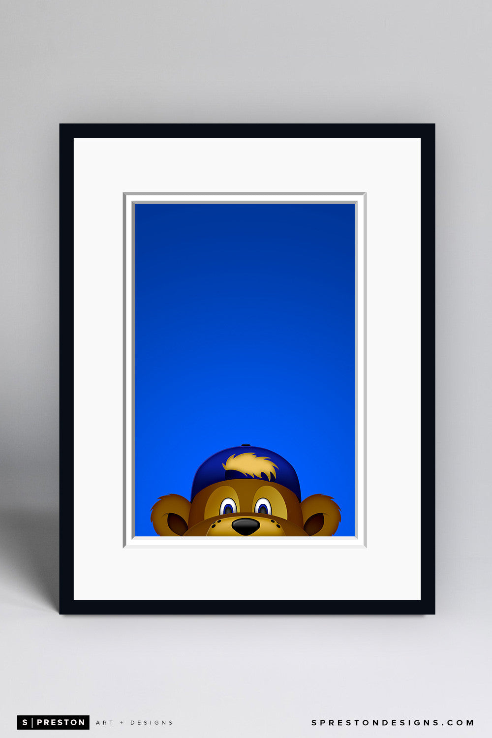 Minimalist Clark The Cub - Chicago Cubs - S. Preston