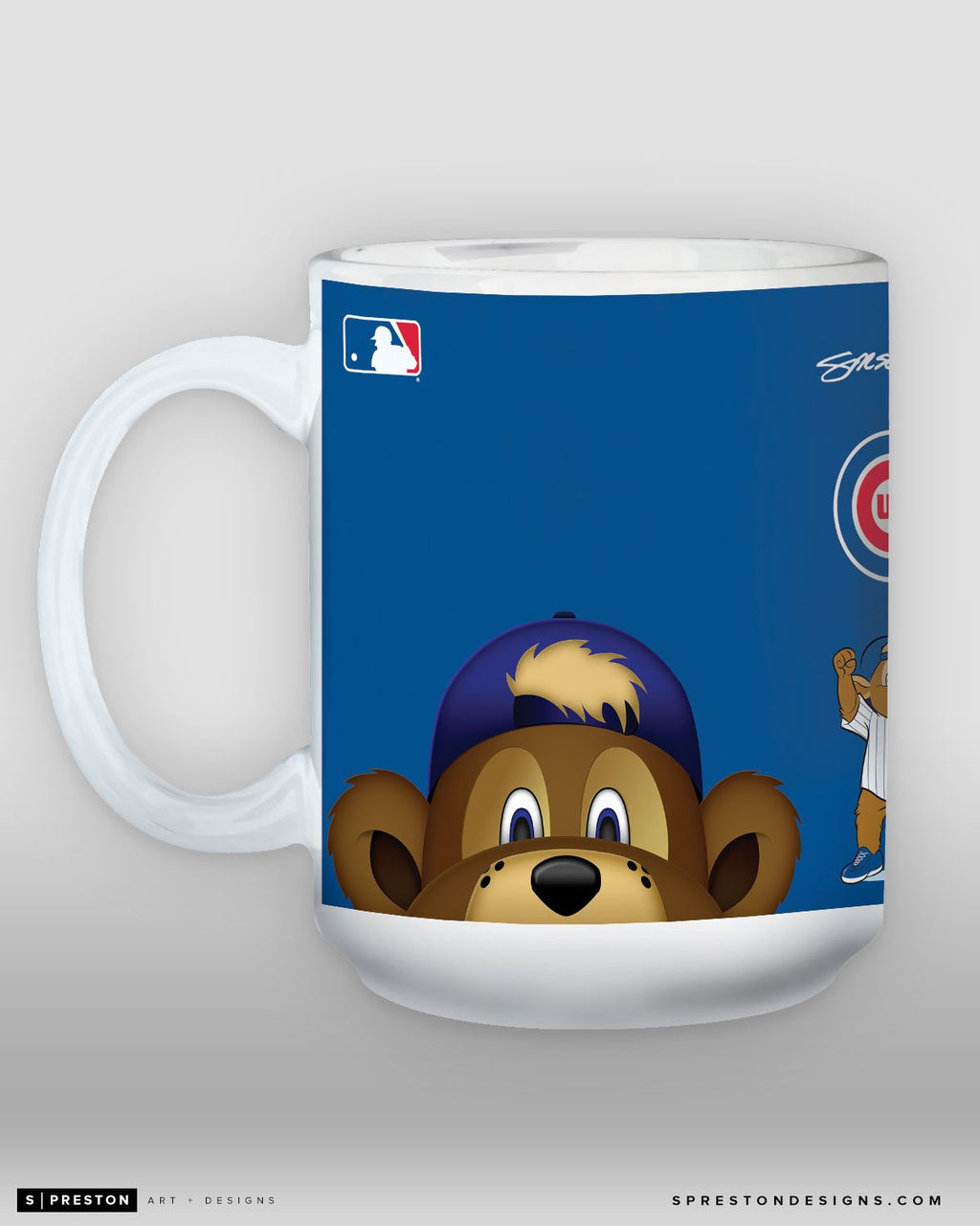 Minimalist Clark The Cub Coffee Mug - MLB Licensed - Chicago Cubs Mascot
