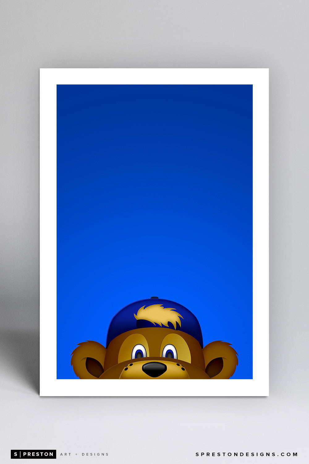 Minimalist Clark The Cub Art Print - Chicago Cubs - S. Preston Art + Designs