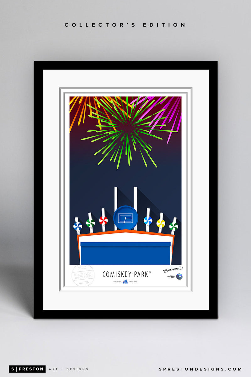 Minimalist Comiskey Park Art Print - Chicago White Sox - S. Preston Art + Designs