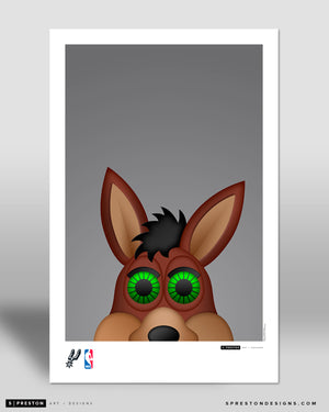 Minimalist The Coyote Poster Print San Antonio Spurs - S Preston