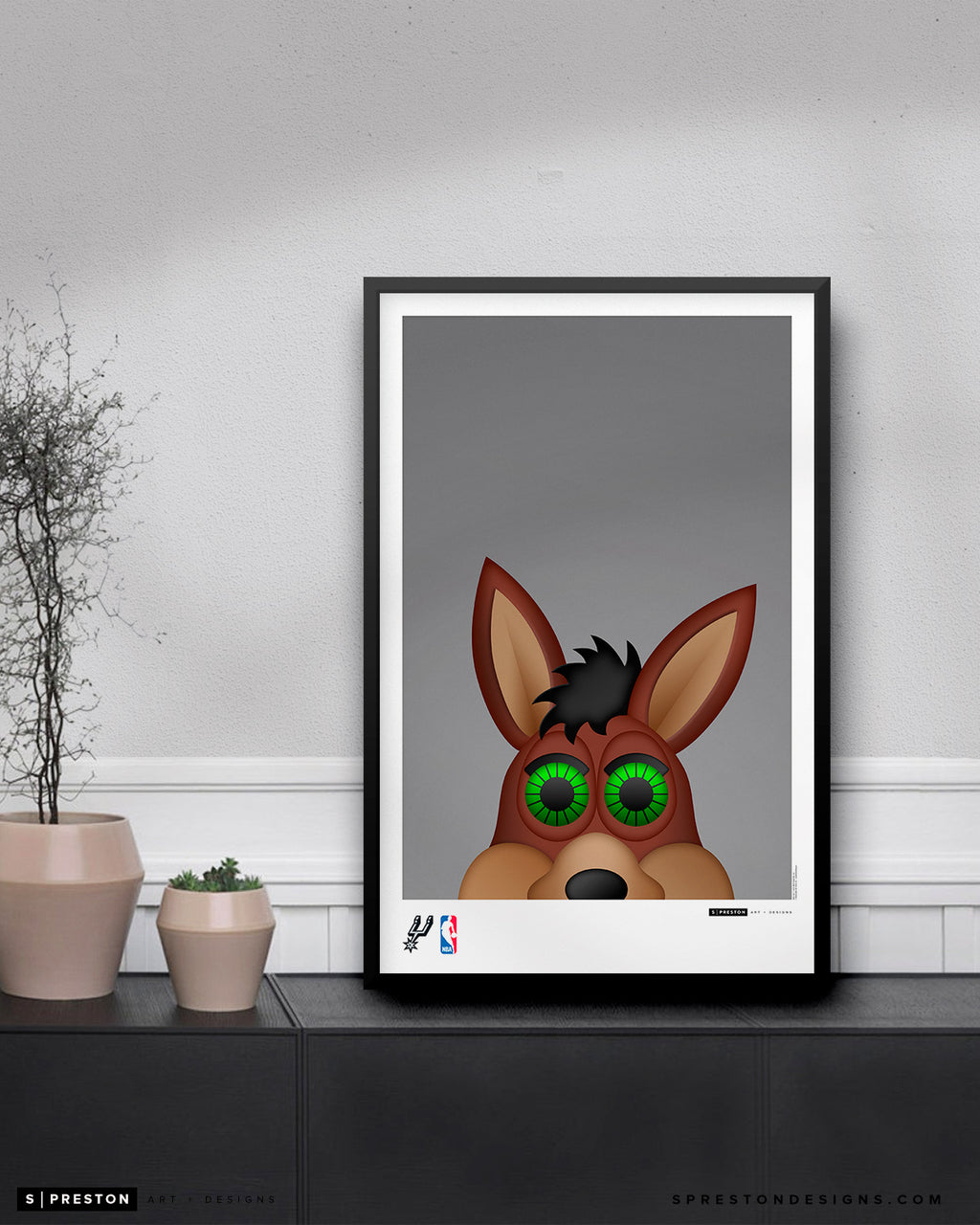 Minimalist The Coyote Poster Print