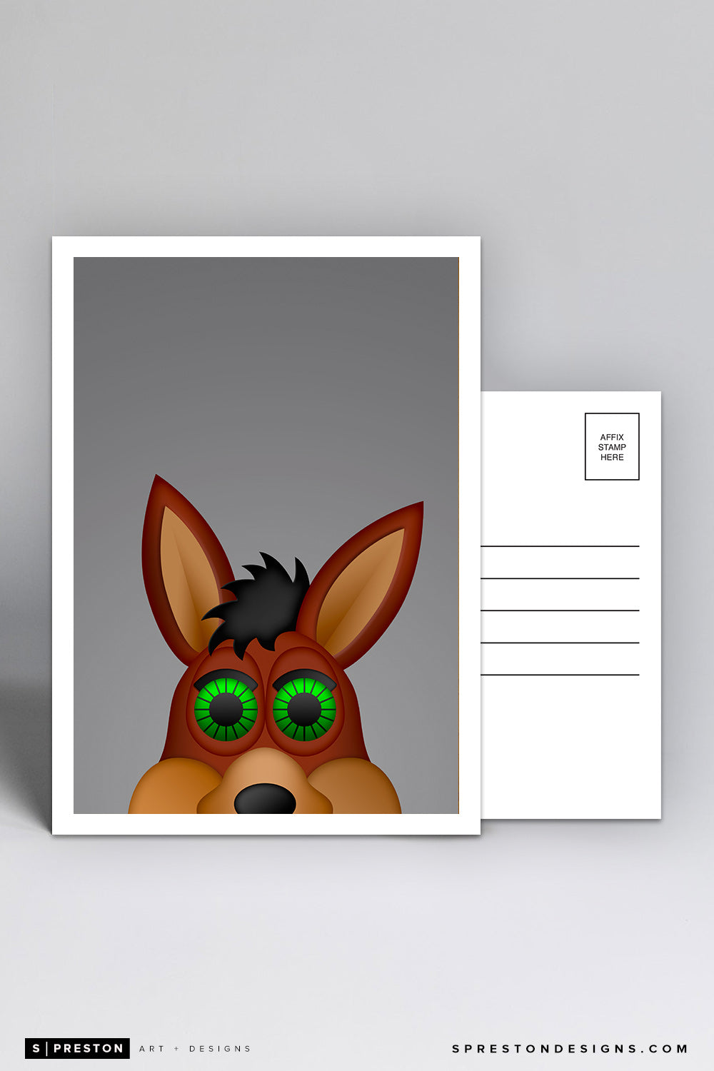 Minimalist The Coyote Postcard
