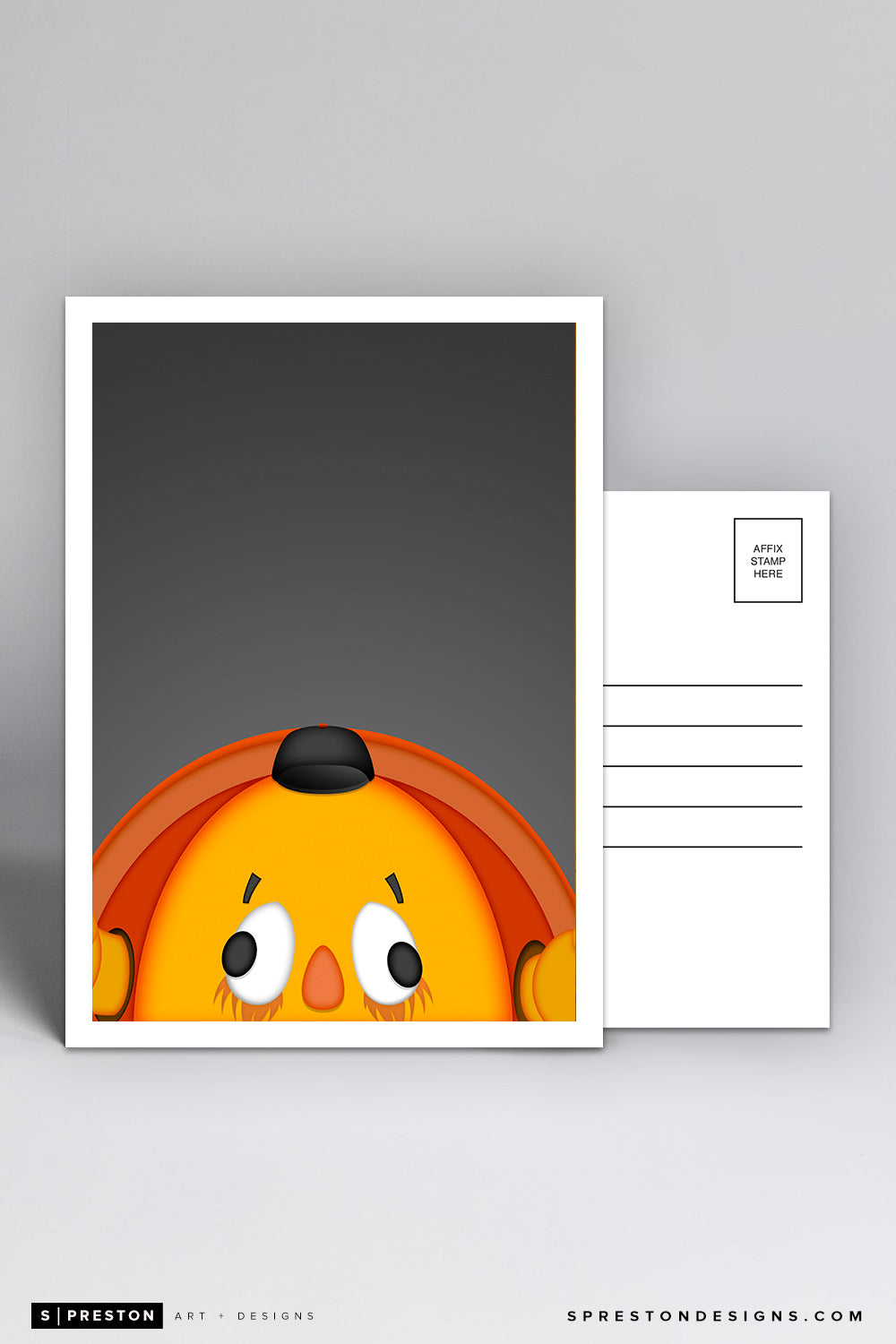 Minimalist Crazy Crab Postcard San Francisco Giants Mascot