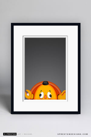 Minimalist Crazy Crab Art Print - San Francisco Giants - S. Preston Art + Designs