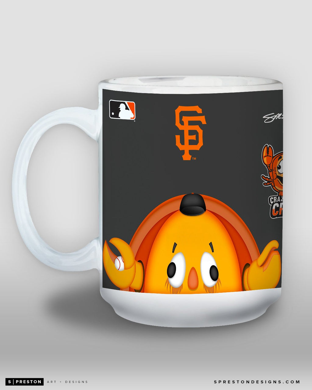 Minimalist Crazy Crab Coffee Mug - MLB Licensed - San Francisco Giants Mascot