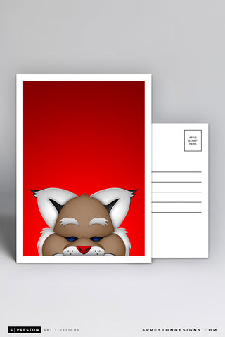 Minimalist D. Baxter the Bobcat Postcard