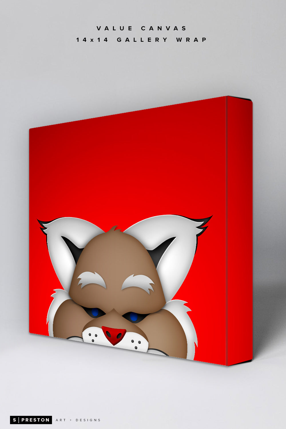 Minimalist D. Baxter the Bobcat Value Canvas Value Canvas - Arizona Diamondbacks - S. Preston Art + Designs