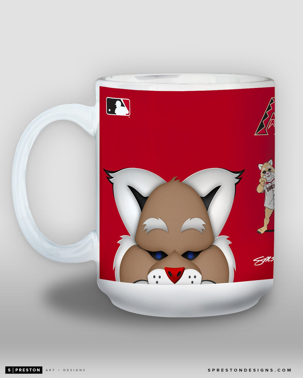 Minimalist D. Baxter the Bobcat Coffee Mug - MLB Licensed - Arizona Diamondbacks Mascot