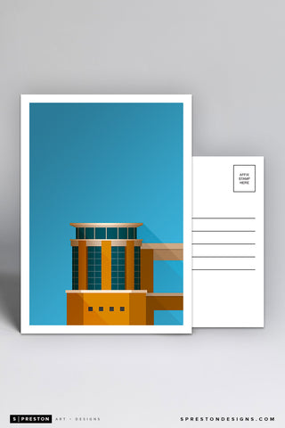 Minimalist Darrell K Royal-Texas Memorial Stadium Postcard