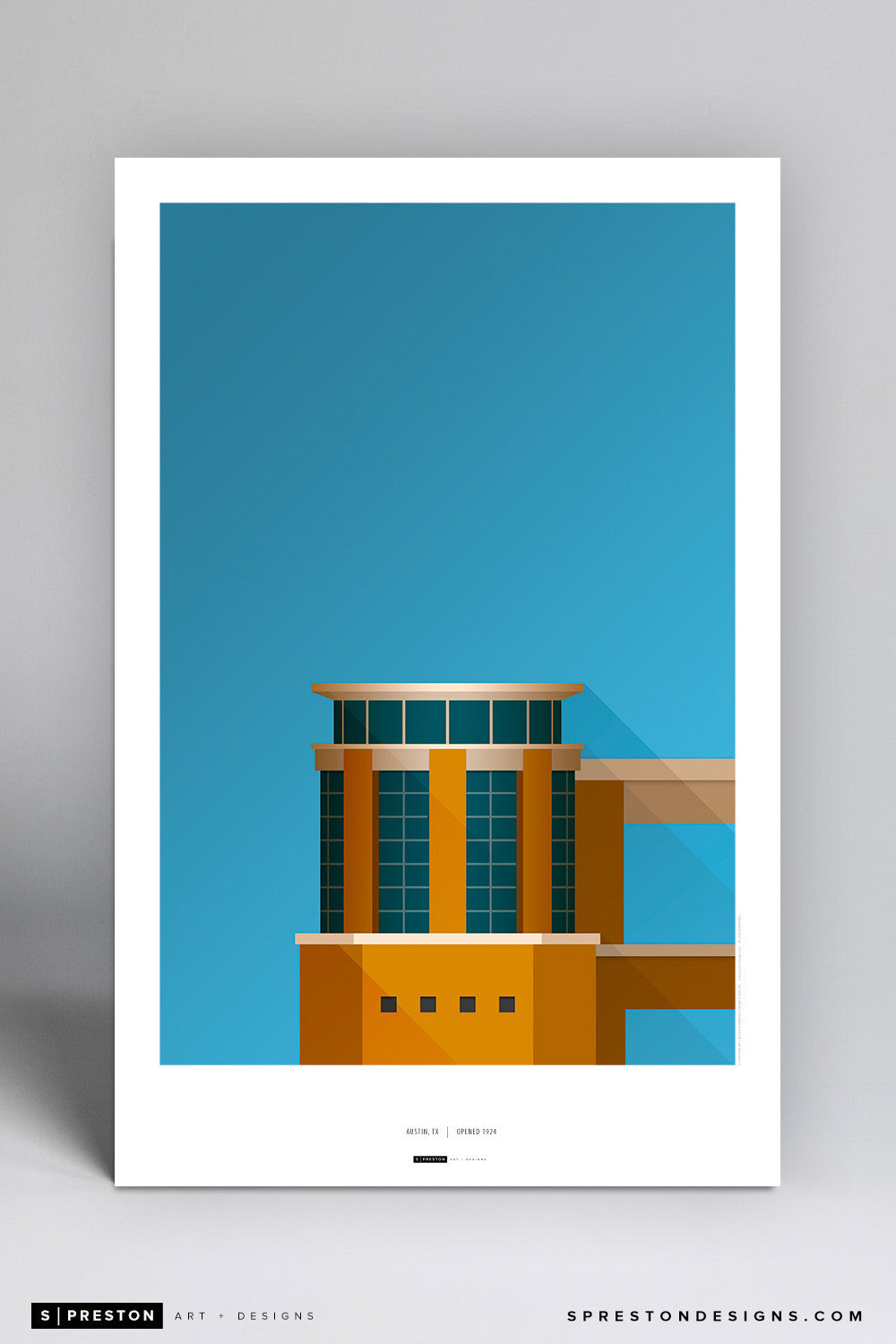 Minimalist Darrell K Royal Texas Memorial Stadium Poster Print University of Texas - S Preston