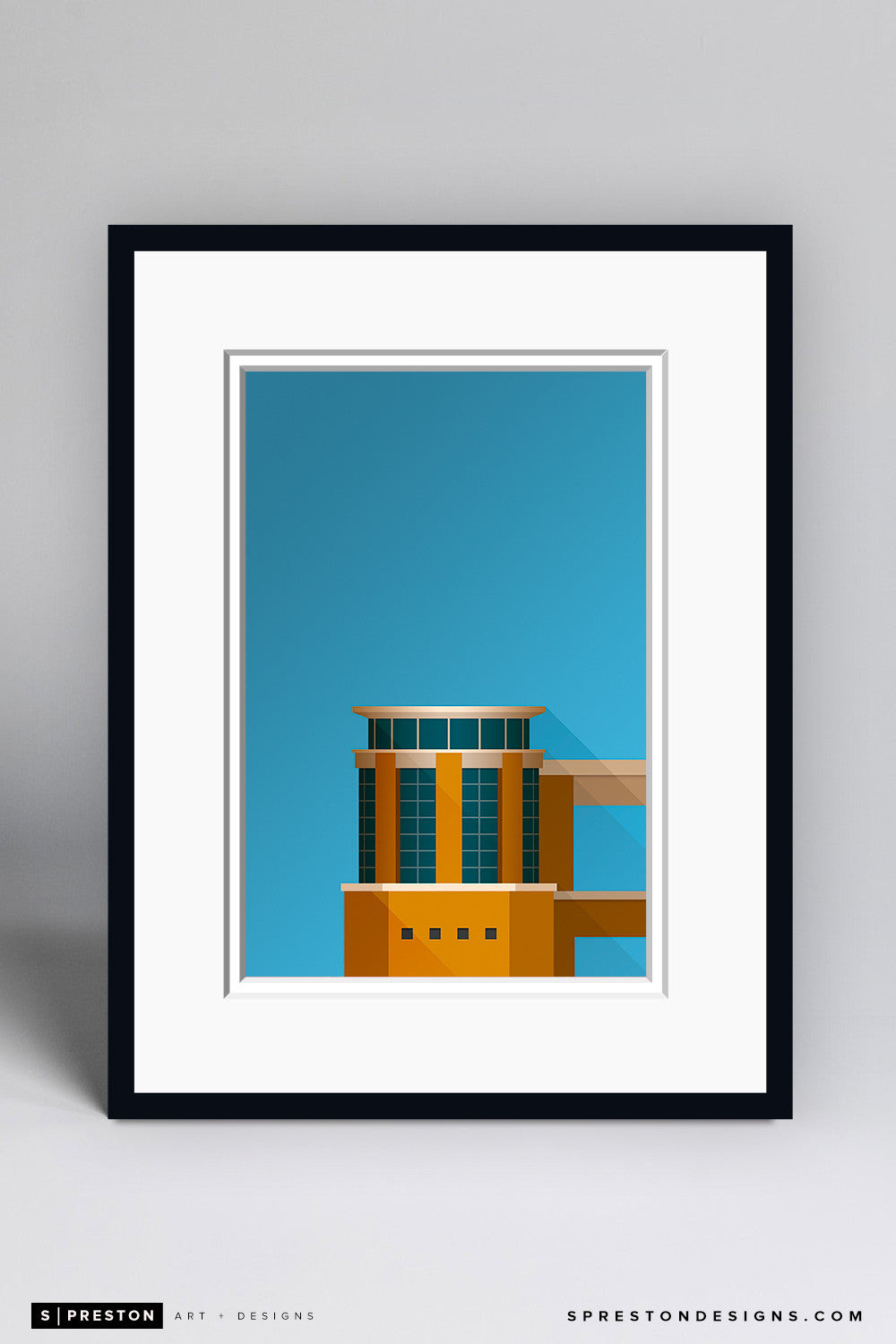 Minimalist Darrell K RoyalŠ—–Texas Memorial Stadium Art Print - University of Texas - S. Preston Art + Designs